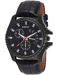 Lorenz MK-106A Black Dial Analog Watch - For Men