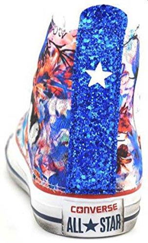 Converse 1C16SP01 Flowers/Royal Glitter Blu