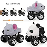 lustiges Spielzeug, ALIKEEY Animal Friction Powered Car Zurückziehen Fahrzeug Mini Tier Auto Spielzeug für Geschenke Ki