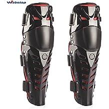 Moto rodilleras protectores caballero al aire libre a campo través pierna romper-resistente rodilleras rojo