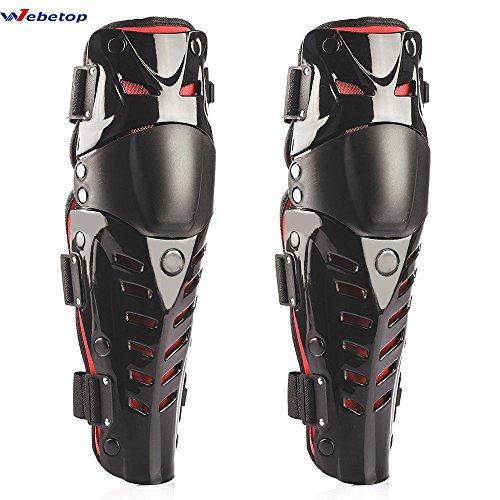 Webetop Le ginocchiere regolabile flessibile traspirante high-impact pads per proteggere ginocchi e corpi d'adulti per moto motocross