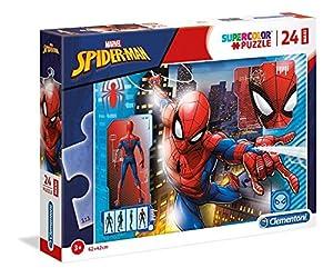 Clementoni Supercolor Puzzle-Spider man-24Piezas Maxi, 28507