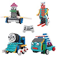 Think Gizmos Build Your Own Robot Toys For Kids - Ingenious Machines Remote Control Robot Building Kit (Fire Engine, Train, Duck & Skier)