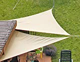 Eduplay Sonnensegel, 5x5x5m, Dreieck, wasserabweisend, cremeweiß