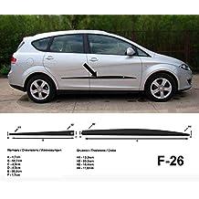 Spangenberg Listones de protección Lateral, Color Negro, para Seat Altea XL Van Combi,
