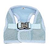 CricTeQleap Mode Weiches Hundegeschirr-Maschen-Gewebe gepolsterte Haustier-Kleine Welpen-Katzen-Schnallen-gehende Weste Light Blue XS