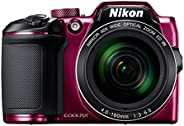 Nikon Coolpix B500 16MP Point and Shoot Camera with 40x Optical Zoom (Purple) + HDMI Cable + 16 GB SD Card + C