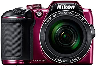 Nikon Coolpix B500 16MP Point and Shoot Camera with 40xOptical Zoom (Purple) with HDMI cable + 16 GB SD card + Carry Case