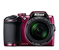 Nikon Coolpix B500 16MP Point and Shoot Camera with 40xOptical Zoom (Purple) with free 8 GB memory