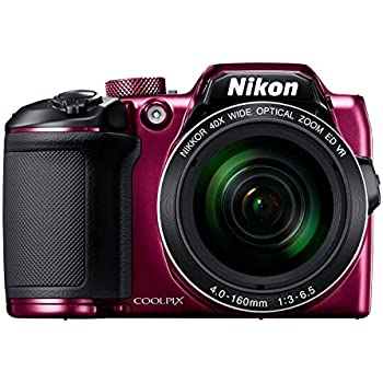 Nikon Coolpix B500 16MP Point and Shoot Camera with 40x Optical Zoom (Purple) + HDMI Cable + 16 GB SD Card + Carry Case