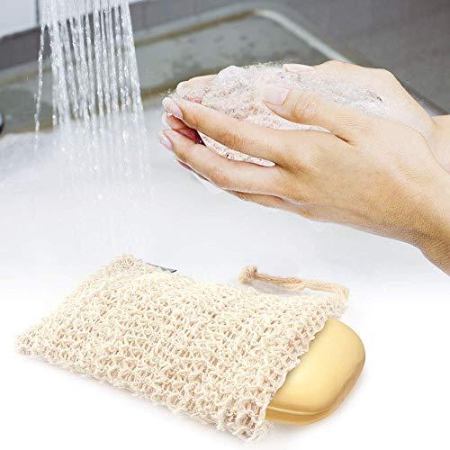 KAIJCWD Peeling Seifenbeutel Mesh Net Bad Bad Pinsel Reinigungswerkzeuge Handtaschenreinigung Aufbewahrungstasche Badaccessoires - Peeling Net