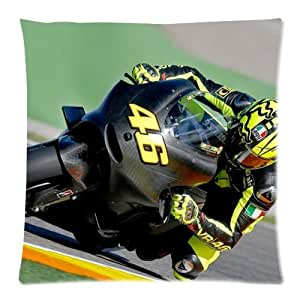 Coutume Valentino Rossi Pillowcase Taie D'oreiller 18x18 ( One Side Design ) 3809
