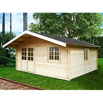 Gartenhaus MÜNCHEN Blockhaus 500x450cm + 150cm Veranda Gartenlaube ...