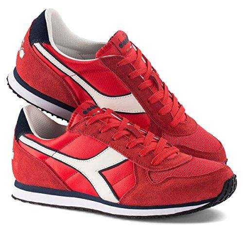 Diadora Herren K-Run Ii Sneaker Low Hals, Dark Blue/Ferrari Red Rot