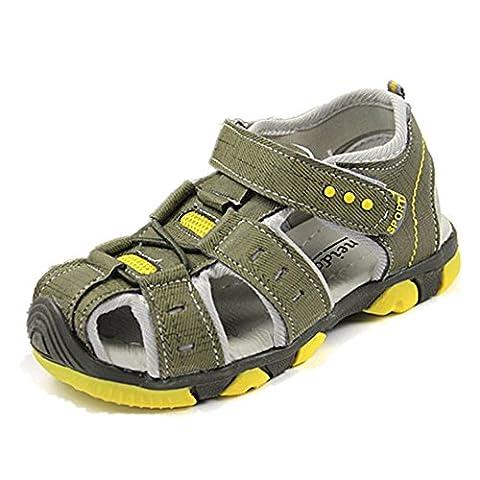 Jungen Sandalen, FNKDOR Unisex Kinder Klettverschluss Wanderschuhe Breathable Schuhe, 23-31 (31 Länge: 18.5CM, (Golfschuhe Kinder 30)
