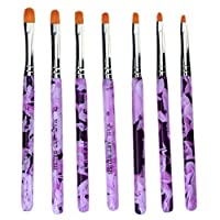 Haobase 7Pcs Nail Art Pen Brush Uv Gel Acrylic Painting Drawing Brush Set