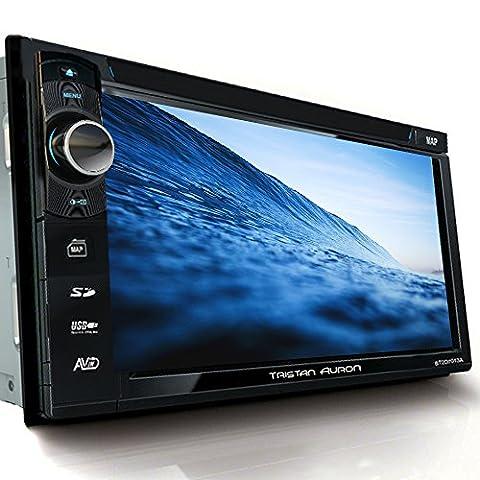 Tristan Auron BT2D7013B Autoradio 6,5'' Touchscreen Bildschirm Navi Europa Bluetooth Freisprecheinrichtung USB/SD Slot CD/DVD 2 DIN