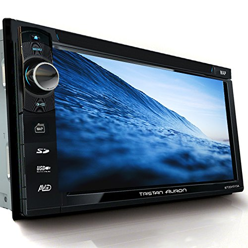 Tristan Auron BT2D7013B Autoradio mit Navi, 6,5'' Touchscreen Bildschirm, MirrorLink, Bluetooth Freisprecheinrichtung, USB/SD, CD/DVD, DAB+ Lenkradsteuerung Rückfahrkamera Auto-Radio 2 Din