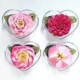 Set di 4 saponi decorativi a forma di fiore di signora in rosa, intagliati a mano con olio essenziale di aroma di gelsomino, fiore di sapone artigianale fatto a mano da artigiano immagine