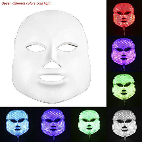 lzndeal Multi-function Home Photodynamic LED Facial Mask Skin Rejuvenation Beauty Tools