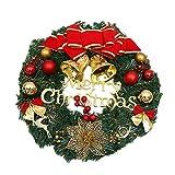 Demarkt Weihnachtskränze Türkranz Dekokranz Weihnachtsdeko Weihnachtsschmuck 30-35cm