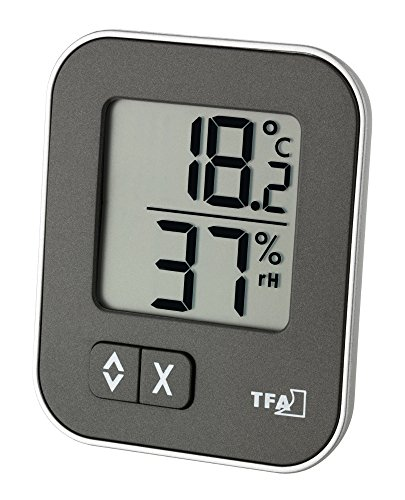 TFA Dostmann Digitales Thermo-Hygrometer Moxx 30.5026 Anthrazit