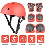 7-teilig Kinder Schutzausrüstung mit Knie- Handgelenk und Ellbogenschoner und Helm----Yacool