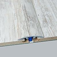 Laminat-/Übergangsschiene Carrara Wei/ß Superglanz 900 mm f/ür 4-14 mm H/öhenunterschied