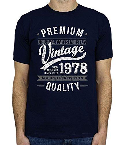 1978 Vintage Year - Aged To Perfection - 40 Ans Anniversaire T-Shirt pour Homme Marine Bleu 2XL