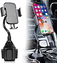 DELEE Cup Holder Phone Mount Universal Adjustable Gooseneck Cup Holder Cradle Car Mount for Cell Phone iPhone