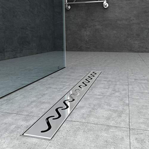 Duschrinne 80cm edelstahl Bodenablauf Ablaufrinne Duschablauf Randablauf Boden Ablauf Rinne Badezimmer Bad Länge