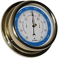 Delite Barometer von Altitude aus Messing mit Kadinalzeichen auf Dem Ziffernblatt, 150mm