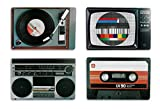 Out of the Blue Tisch-Sets, Nostalgie-Serie mit HiFi-Geräten im Retro-Stil