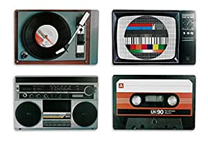 Placemat set nostalgia hifi equipment Retro Style
