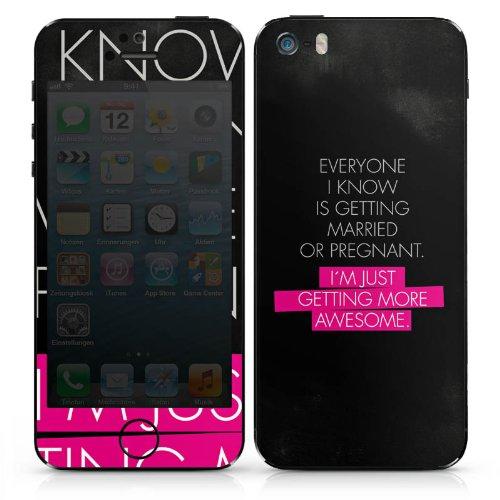 Apple iPhone 4s Case Skin Sticker aus Vinyl-Folie Aufkleber Awesome Sprüche Statement DesignSkins® glänzend