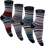 5 10 Paar Thermo Winter Socken Damen Herren Schwarz Weiß Grau Farbig Gestreift Warm Baumwolle von SGS (38-41, 10 Paar, Modell 1)