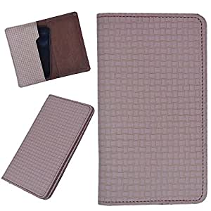 DCR Pu Leather case cover for Videocon A53 (brown)