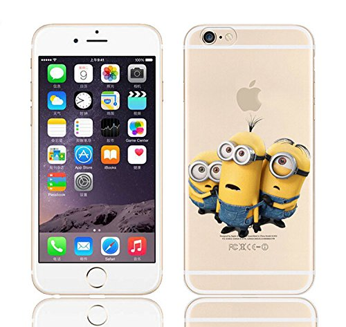 Coque iPhone 6s / Minions couvercle de gel de bande dessinée pour Apple iPhone 6s 6 / protecteur d'écran et écran chiffon par iCHOOSE / lavage Confus