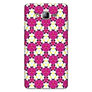 CrazyInk Premium 3D Back Cover for Samsung On7 Pro - Beautiful Flower Pattern