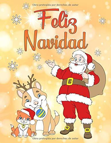 Feliz Navidad: Un libro para colorear para navidad para niños y niñas a partir de 4 años. por Libro de Navidad Para Colorear