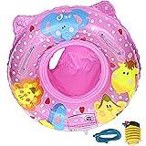 Anello di Nuoto Bambini, Gonfiabile Galleggiante per Piscina Bambini con Sedile Ideale Bambini Piscina con Sedile Ideale per Bambini (Rosa Rossa)