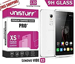 Unistuff™ 2.5D Curve Edge 9H Surface Hardness PRO+ Tempered Glass for Lenovo VIBE X3