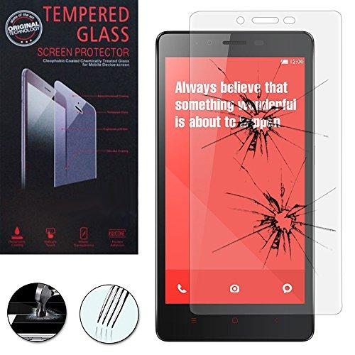 Xiaomi vcomp® Redmi Redmi Note/Note/Note 2 Redmi 4 g, con 1 pellicola protettiva per schermo, in vetro temprato, colore trasparente