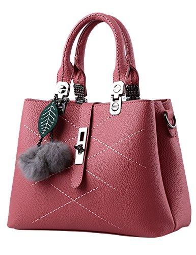 1e5a877e1498c Menschwear Damen Handtasche Marken Handtaschen Elegant Taschen Shopper  Reissverschluss Frauen Handtaschen Schwarz Rosa