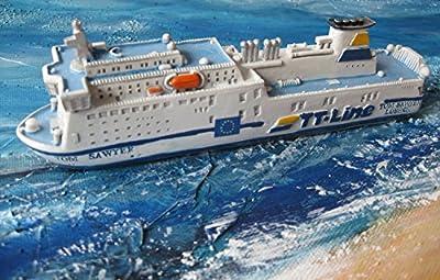 Schiffsmodell MS Tom Sawyer Miniatur Schiff Fähre TT-Line von sonstige