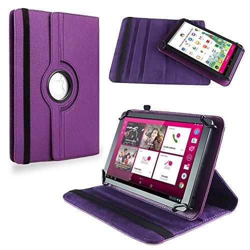 na-commerce Für Telekom Puls Tablet Tasche Hülle Schutzhülle Cover Case 360° Drehbar Lila