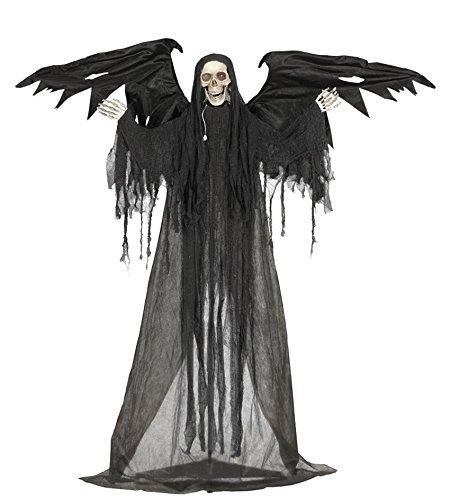 Halloween-Dekoration Todesengel, ca 175cm mit Ton und Bewegung, stehend mit Halter, Horror Grusel Party Saaldekoration*NEU bei Pibivibi©
