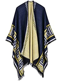 Étole Femme Automne Hiver Cachemire Cape Poncho Fashion Elégante Vintage  Ethnique-Style Classique Spécial Géométrique 2ebe57ed488