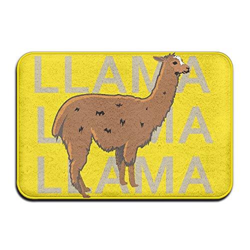 Dessin animé Lama Motif Home Paillasson Tapis de sol 4060 antidérapant