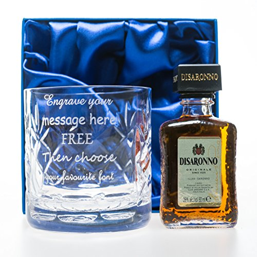 engraved-personalised-crystal-glass-tumbler-disaronno-amaretto-miniature-in-silk-gift-box-for-18th-2